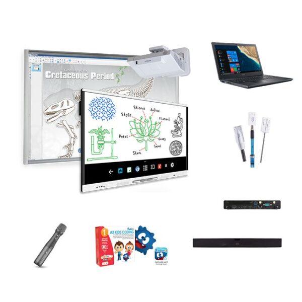 """NOWOŚĆ! 1 x monitor interaktywny SMART 65"""" 4K Android, 1 x tablica interaktywna SMART 77"""", 1 x projektor ultrakrótkoogniskowy HITACHI 3200 ANSI + zestaw uzupełniający i wspierający"""