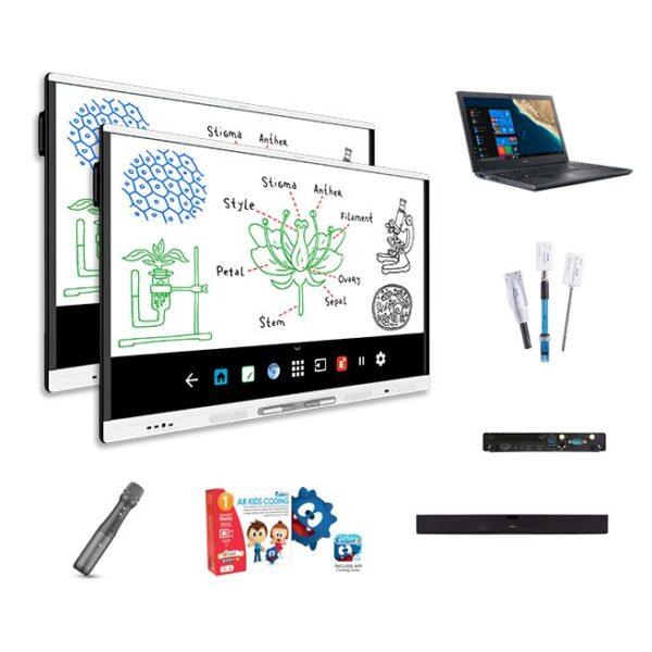 """NOWOŚĆ! 2 x Monitor interaktywny 65"""" SMART MX165 4K Android + oprogramowanie SMART Notebook + zestaw uzupełniający i wspierający"""