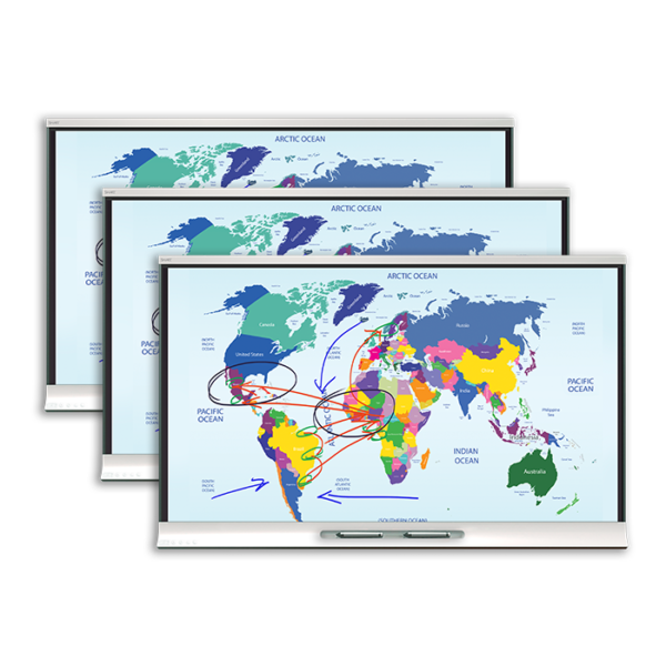 "3 x monitor interaktywny 65"" SMART SBID-6065HD + oprogramowanie SMART Notebook"
