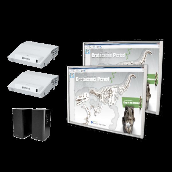 2 x Tablica interaktywna SMART SBM685V + 2 x projektor ultrakrótkoogniskowy Maxell MC-AW3006 + 2 x głośniki MEDIA-TECH MT-3143