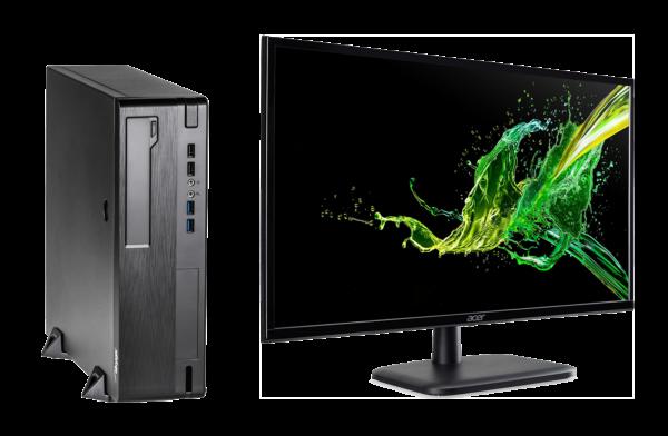 Komputer stacjonarny PCS AER A320B + Monitor Acer EK240YAbi