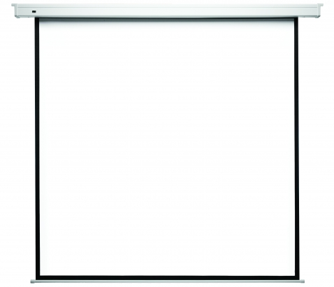 Ekran naścienny / sufitowy elektrycznie rozwijany Econo Electric (Matt White) 200 x 200 cm