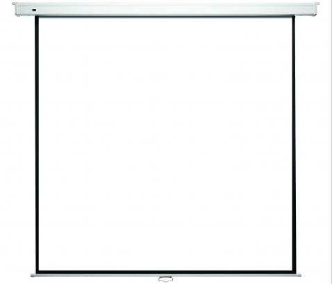 Ekran naścienny ręcznie rozwijany Econo Wall (Matt White) 178×178 cm